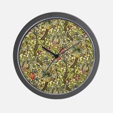 Morris Golden Lily Wall Clock