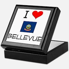 I Love BELLEVUE Idaho Keepsake Box