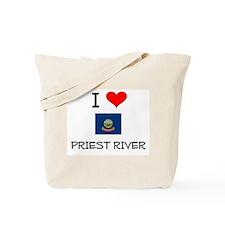 I Love PRIEST RIVER Idaho Tote Bag