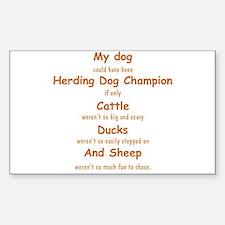 Herding Champion CDS Decal