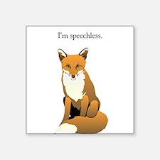 Speechless Fox Sticker