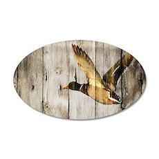 barnwood wild duck Wall Decal