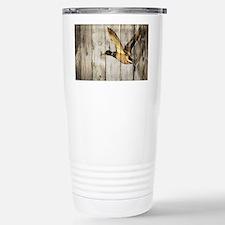 barnwood wild duck Stainless Steel Travel Mug