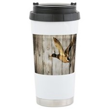barnwood wild duck Travel Coffee Mug