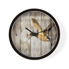 barnwood wild duck Wall Clock