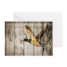 barnwood wild duck Greeting Card