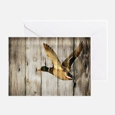 barnwood wild duck Greeting Card
