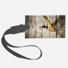 barnwood wild duck Luggage Tag