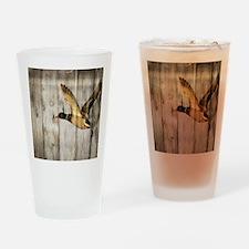 barnwood wild duck Drinking Glass