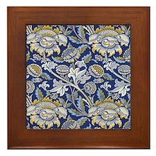 William Morris Floral Design Framed Tile