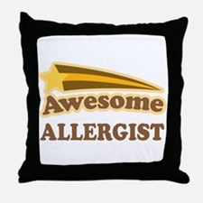 Awesome Allergist Throw Pillow