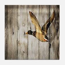 barnwood wild duck Tile Coaster
