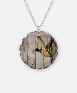 barnwood wild duck Necklace