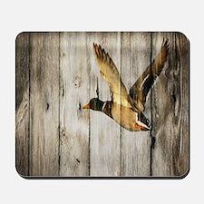 barnwood wild duck Mousepad