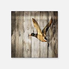 "barnwood wild duck Square Sticker 3"" x 3"""