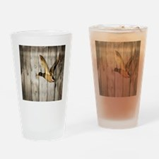 barnwood wild duck Drinking Glass