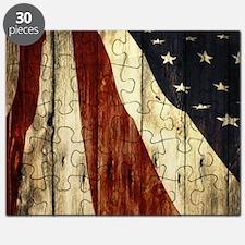 grunge USA flag Puzzle