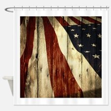 grunge USA flag Shower Curtain