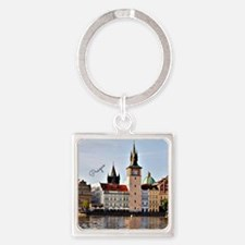 Cute Czech Square Keychain