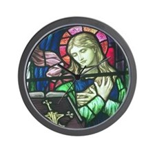 Stained Glass Mary Wall Clock