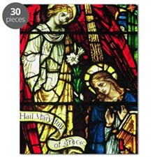 The Annunciation in Stained Glass Puzzle