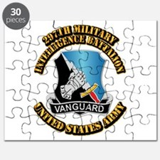 DUI - 297th Military Intelligence Bn w Text Puzzle