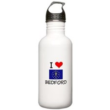 I Love BEDFORD Indiana Water Bottle