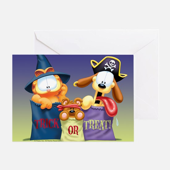 Garfield Trick or Treat Greeting Card
