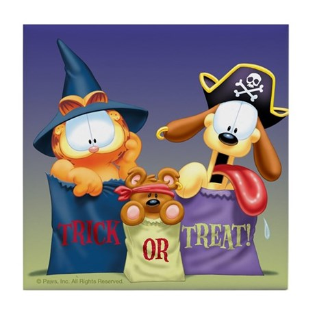 Garfield Trick or Treat Tile Coaster