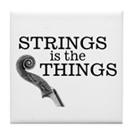 Strings is the Things Tile Coaster