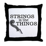 Strings is the Things Throw Pillow