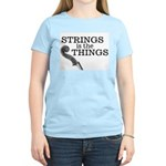 Strings is the Things Women's Pink T-Shirt
