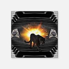 "modern black panther keyboa Square Sticker 3"" x 3"""