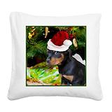 Rottweiler pillow Square Canvas Pillows