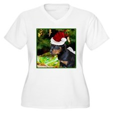 Christmas Rottweiler Puppy Plus Size T-Shirt