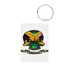 Jamaica Skull Keychains