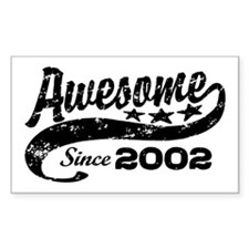 Awesome Since 2002 Decal