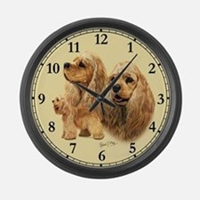 Cocker Spaniel (American) Large Wall Clock