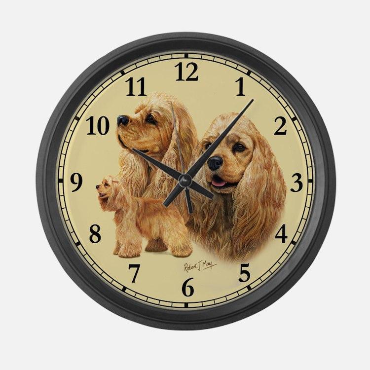 Cocker Spaniel (American) Large Wall Clock
