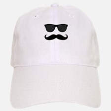 Black Mustache and Sunglasses Baseball Baseball Cap