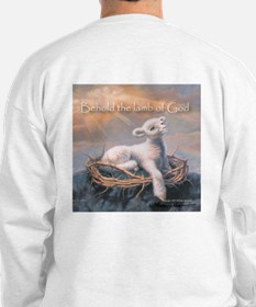"""Behold the Lamb"" Fine Art Sweatshirt"