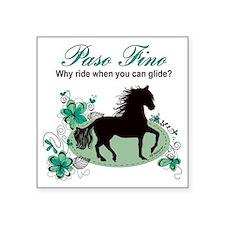 """Paso Fino - Why Ride When Y Square Sticker 3"""" x 3"""""""