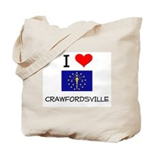 I Love CRAWFORDSVILLE Indiana Tote Bag