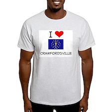 I Love CRAWFORDSVILLE Indiana T-Shirt