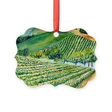 Winery Vineyard Art Ornament