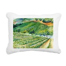 Winery Vineyard Art Rectangular Canvas Pillow