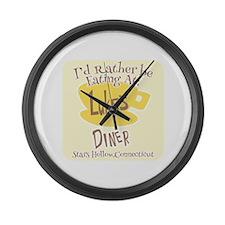 Eat At Lukes Large Wall Clock