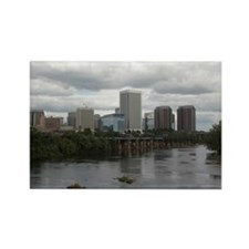 Richmond VA skyline Rectangle Magnet