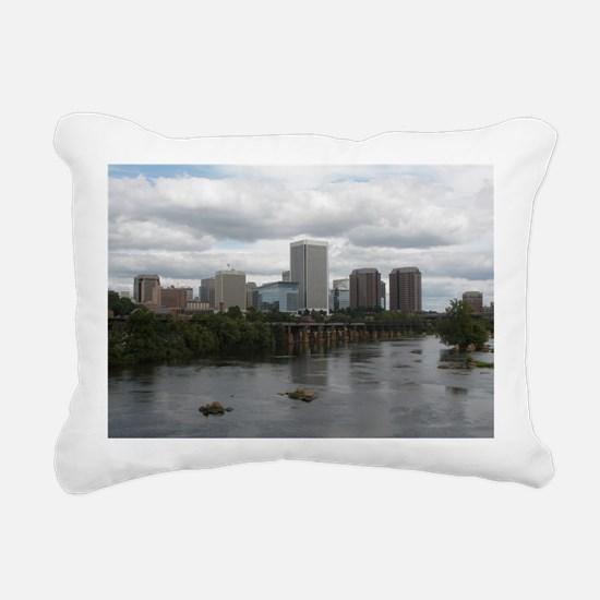 Richmond VA skyline Rectangular Canvas Pillow