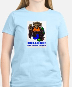 College Chimp Women's Pink T-Shirt